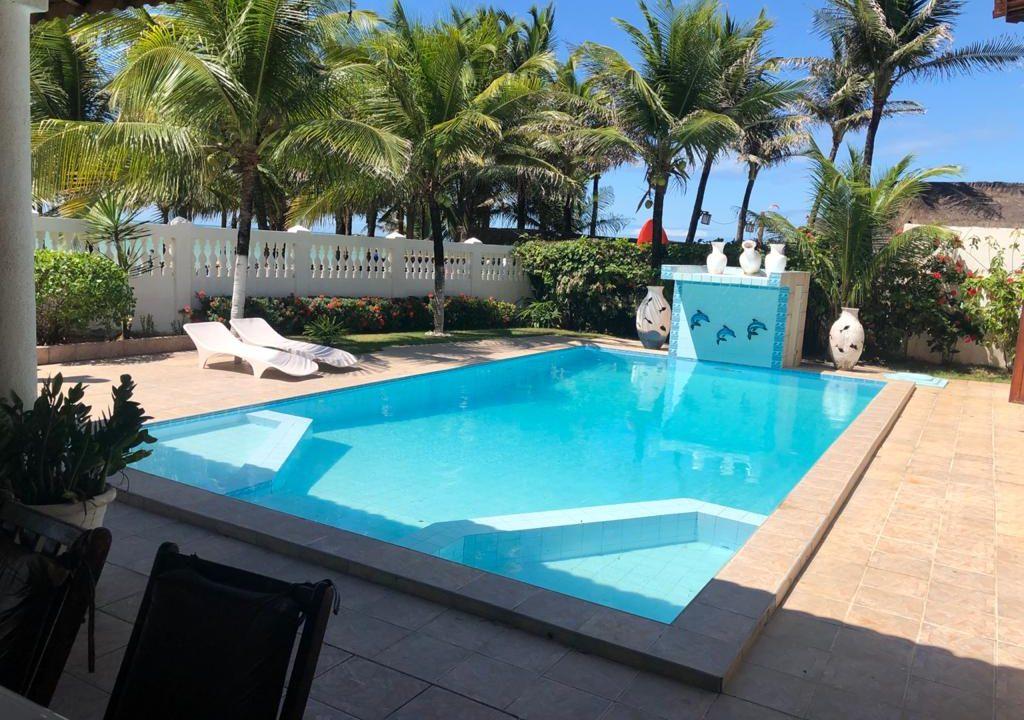 Villa Branca Cumbuco Casa de Frente mar na Praia de Cumbuco